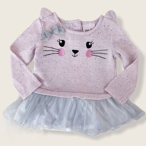 Little Lass 2T Pink Tutu Kitty Cat Top